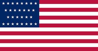 Flag of of United States (1847-48) 29 stars