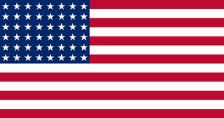 Flag of of United States (WW II) 48 stars