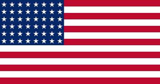 Flag of of United States (WW II) 48 stars