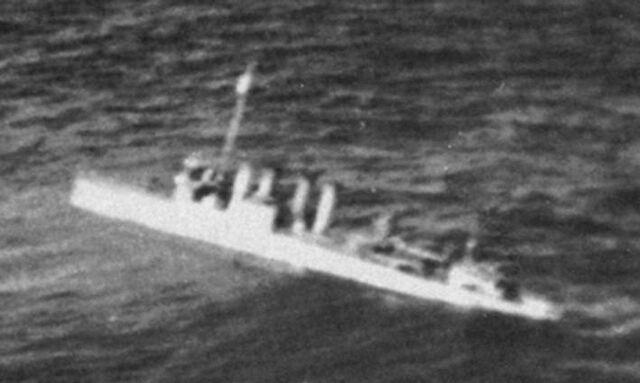 File:USS Pope Sinking taken by Japanese Float plane.jpg
