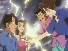 Kogoro Eri giving cards