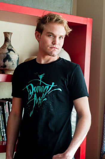DA Cursive T-Shirt -- Black