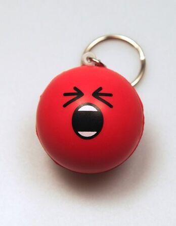Rage Stress Ball Keychain