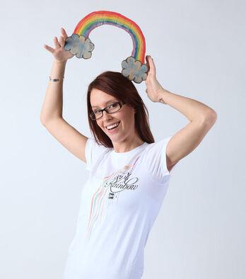 Triple Rainbow - White
