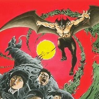 Promotional art featuring Jinmen and many other demons in the background