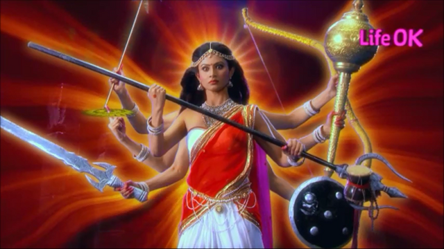 File:Eight-Armed Goddess Shakti Ready To Destroy Creation.png