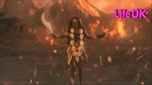 File:Goddess Kali Standing in The Battlefield.png