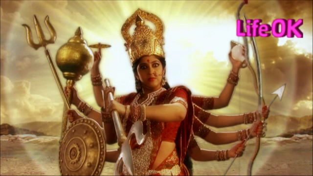 File:Outraged Goddess Durga With Ten Arms.png