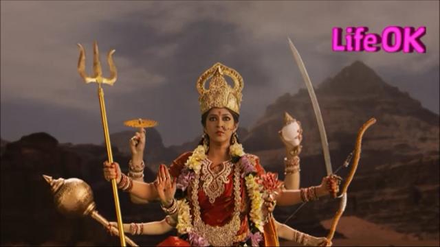 File:Eight-Armed Goddess Durga Ready To Kill Raktabeej.png