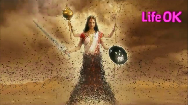 File:Bhramari Devi's Swarm of Bees Attack The Demons.png