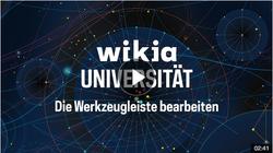 Wikia Universität Werkzeugleiste