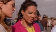 Debra and LaGuerta at Mike crime scene