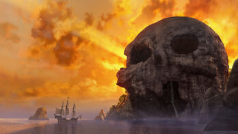 Skull Rock & Pirate Ship