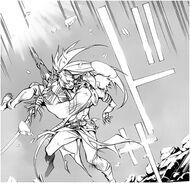 Kanda catches Alma after hitting a wall