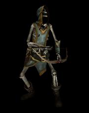 Dark skeletal archer
