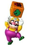 Wario with Chance Block