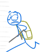 Blue with his gun