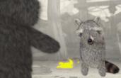 Raccoon getting banished