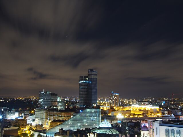 File:CIS Tower by night.jpg