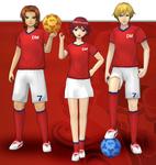"Marcus Damon, Thomas H. Norstein, and Yoshino ""Yoshi"" Fujieda (Soccer Uniforms) dm"