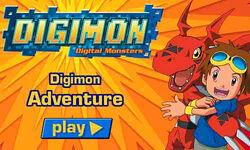 Digimon Adventure (Flash game) Start Screen