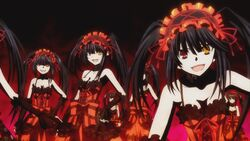 Kurumi summons her clones