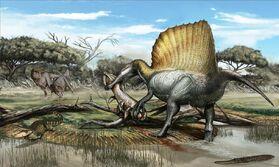 Spinosaurus-Laganosuchus-Rugops