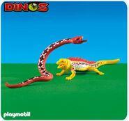 Playmobil Dinos Gigantophis and Scelidosaurus