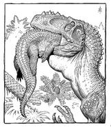 William Stout Dinosaur coloring page Alioramus