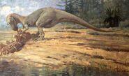 Allosaurus eating