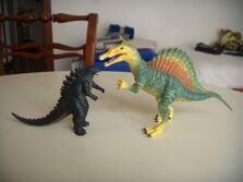 Godzilla and the spinosaurus