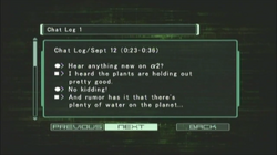 Dino Crisis 3 file - Chat Log 1 - page 1