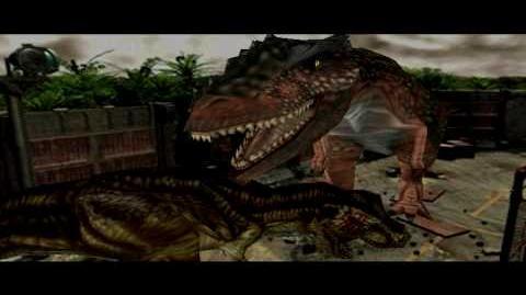 Dino Crisis 2 - T Rex Vs Giganotosaurus - HD
