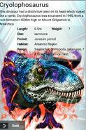 Album Super Rare Cryolophosaurus (Type 2)