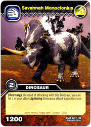 Savannah Monoclonius card