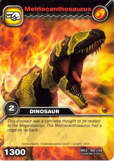 Image - Metriacanthosaurus TCG.jpg | Dinosaur King ...