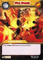Fire Bomb TCG Card 2 (French)