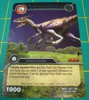 Utahraptor-Pouncing TCG Card 1-Silver (French)
