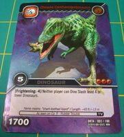 Carcharodontosaurus-Chinese TCG Card 1-Silver (French)