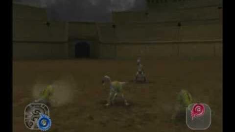 Dinosaur King Arcade Game Battle Scene Secret Dinosaur Deinonychus