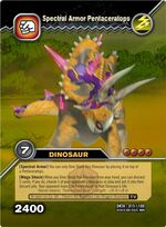 Pentaceratops Spectral Armor TCG Card