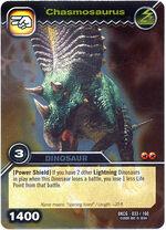 Chasmosaurus TCG card
