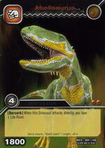 Abelisaurus TCG card