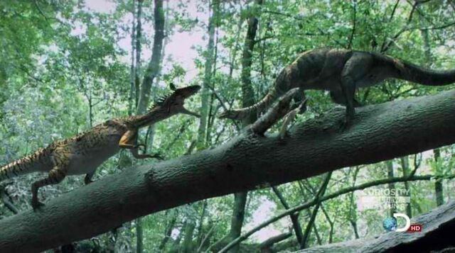 File:Cryolophosaurus and Glacialosaurus.JPG