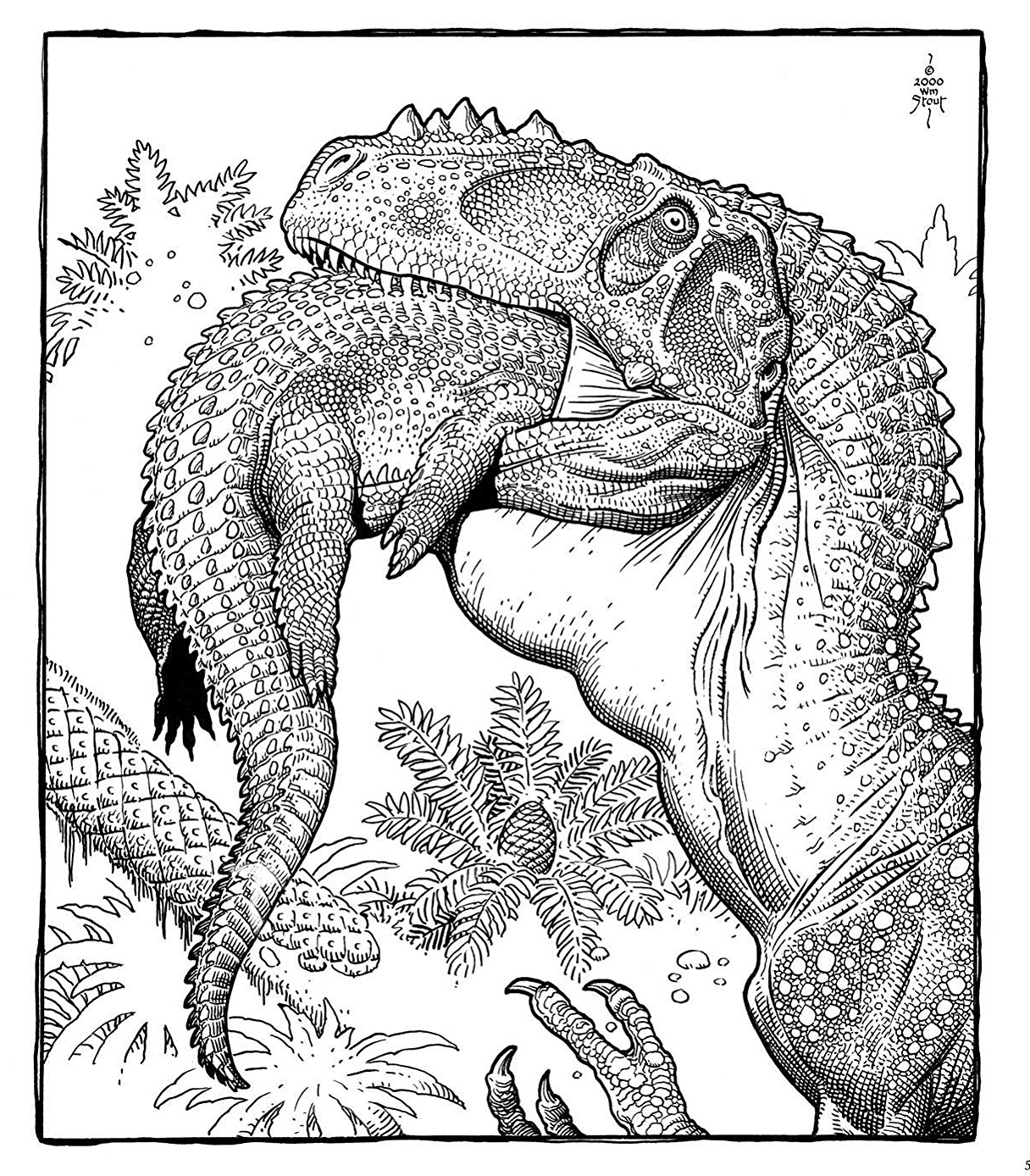 william stout dinosaur coloring page alioramuspng