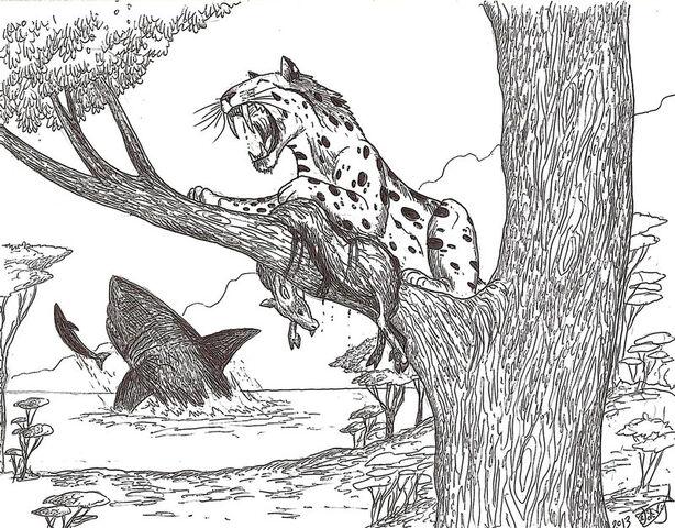 File:Rhizosmilodon by hodarinundu-d5y5w5b.jpg