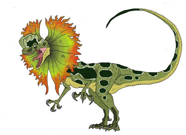 File:Jurassic park dilophosaurus venenifer by sommomaestrodracorex-d8siqky.jpg