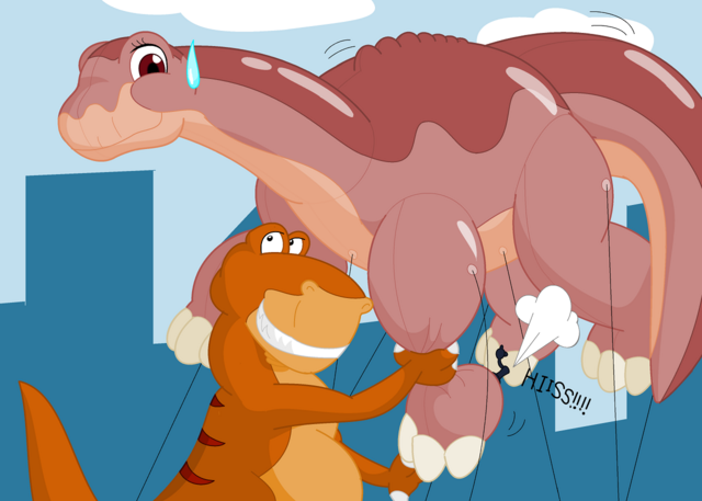 File:Rex and littlefoot by makishiookami-d837vr0.png