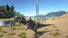 ARK Carnotaurus with Rider