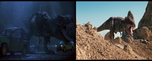 File:Jurassic Park and Land of the lost T-rex.png